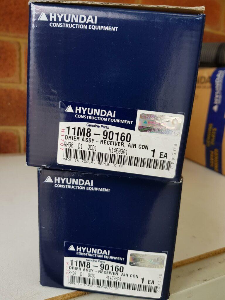 Hyundai 11M8-90160 Drier Assy - Receiver Air Con R55-7A Excavator Heavy Duty Parts Australia Perth