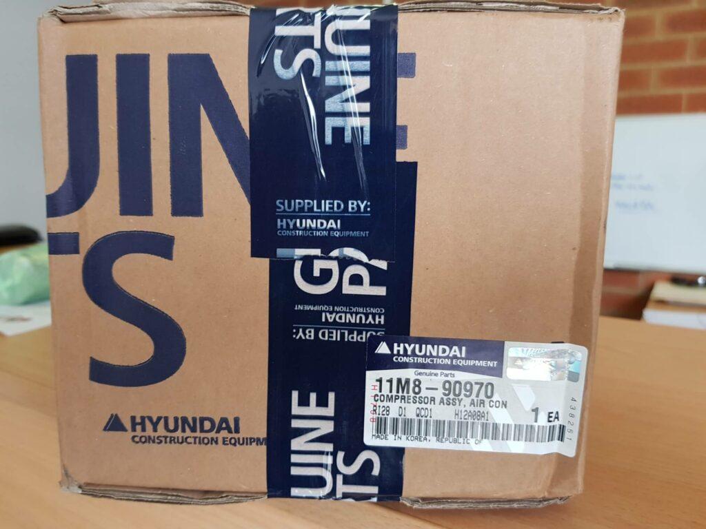 Hyundai 11M8-90970 Compressor Assy R55-7A Excavator Heavy Duty Parts Australia Perth