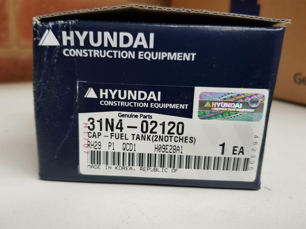 Hyundai Cap-Fuel Tank 31N4-02120 Loader Excavator Heavy Duty Parts Australia Perth